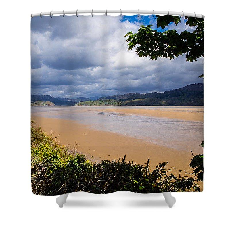 Barmouth Shower Curtain featuring the photograph Mawddach Estuary by Mark Llewellyn