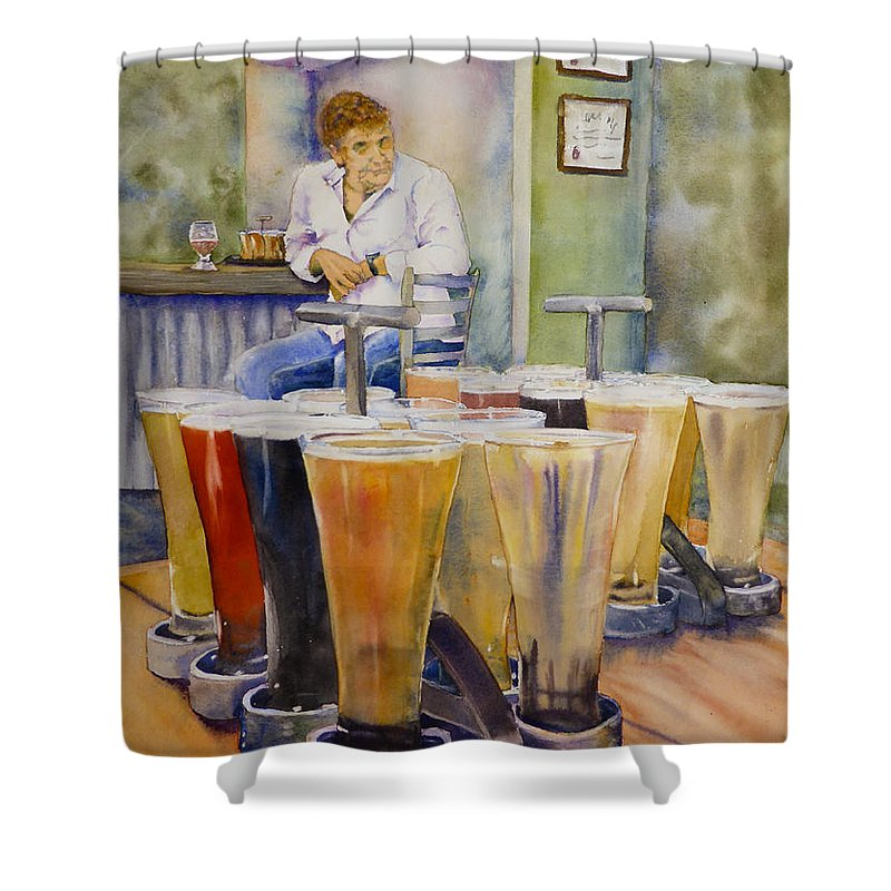 Painting Shower Curtain featuring the painting May I Join You? by Melanie Harman