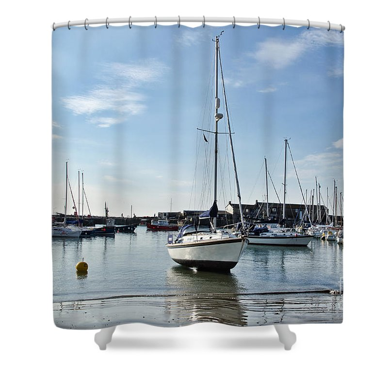 Lyme Regis Shower Curtain featuring the photograph May Morning - Lyme Regis 2 by Susie Peek