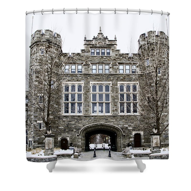 Mcbride Shower Curtain Featuring The Photograph Gateway