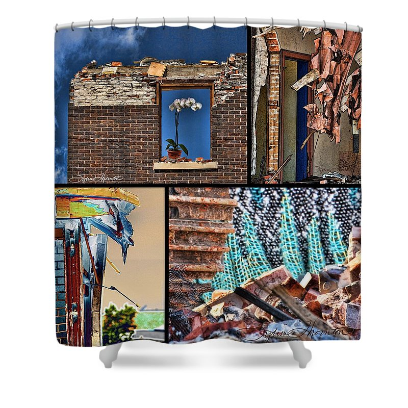 Mcdaid Shower Curtain featuring the photograph Mcdaid Collage by Sylvia Thornton