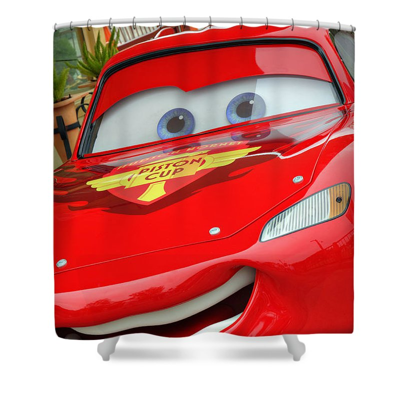 Lightning Shower Curtain Featuring The Photograph Mcqueen By Ricky Barnard