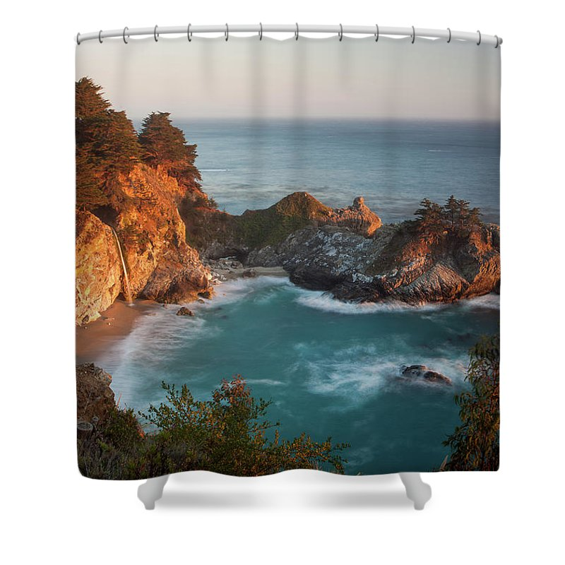 Scenics Shower Curtain featuring the photograph Mcway Falls At Sunset by Sean Duan