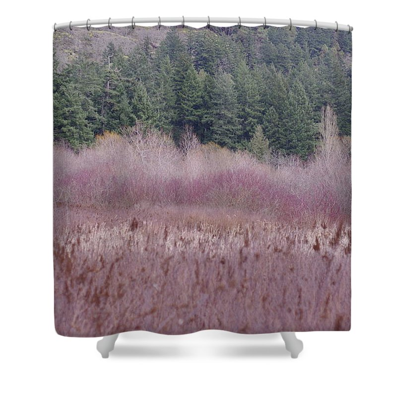 Wild Grasses Shower Curtain featuring the photograph Meadow View by Marilyn Wilson