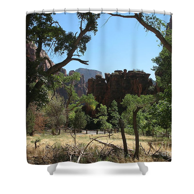 Zion Park Shower Curtain featuring the photograph Meadow Zion Park by Christiane Schulze Art And Photography