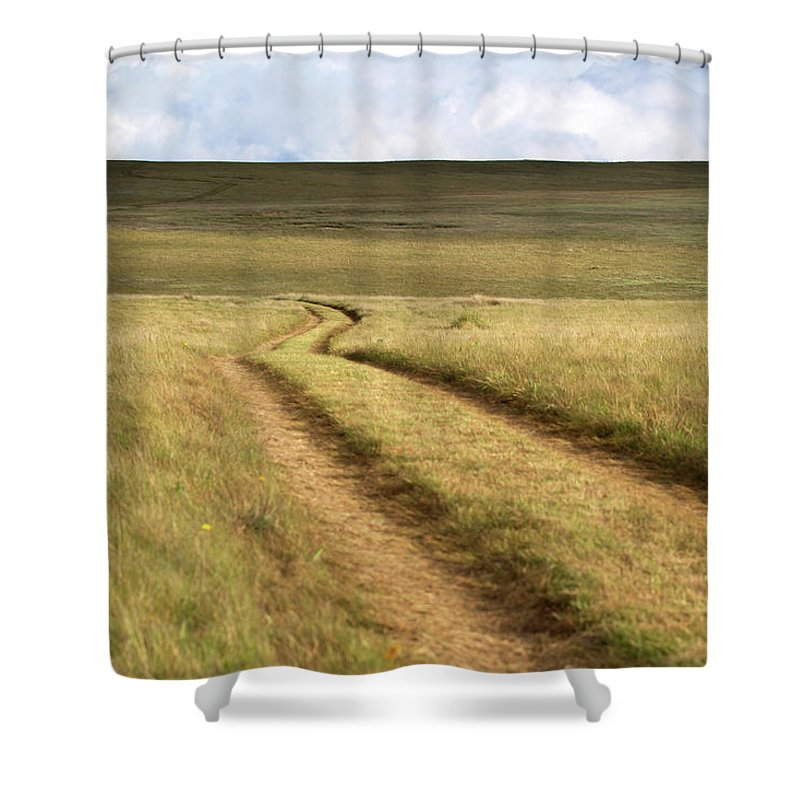 Scenics Shower Curtain featuring the photograph Meandering Path Through The Hills Of by Morgan Trimble