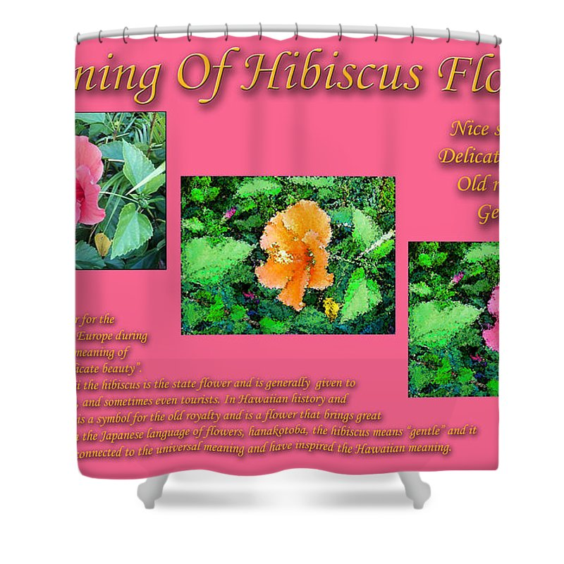 Meaning Of Hibiscus Flowers Shower Curtain For Sale By William Braddock