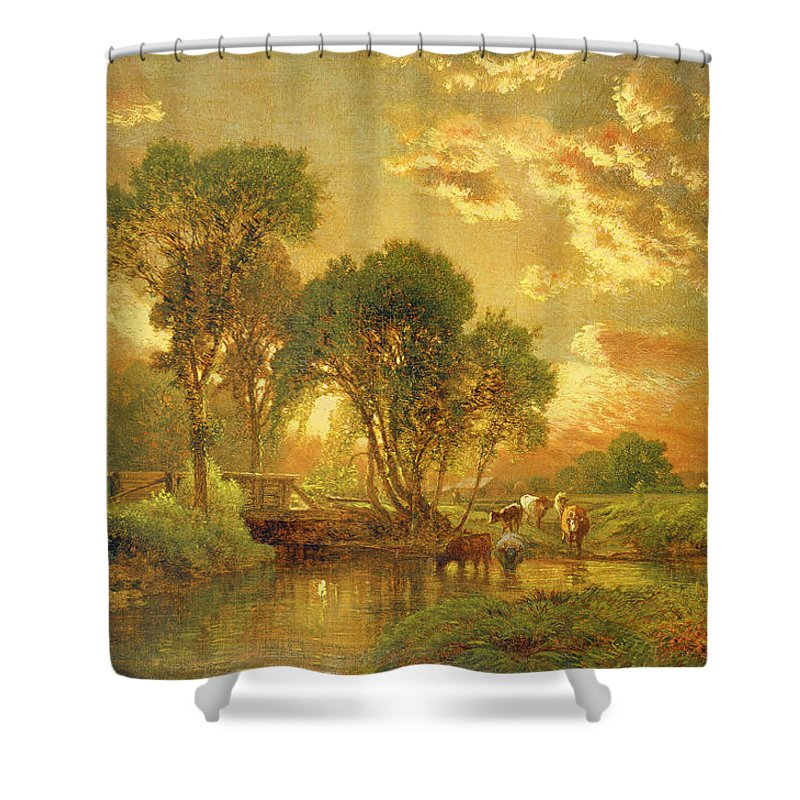 New England Landscape Paintings Shower Curtains