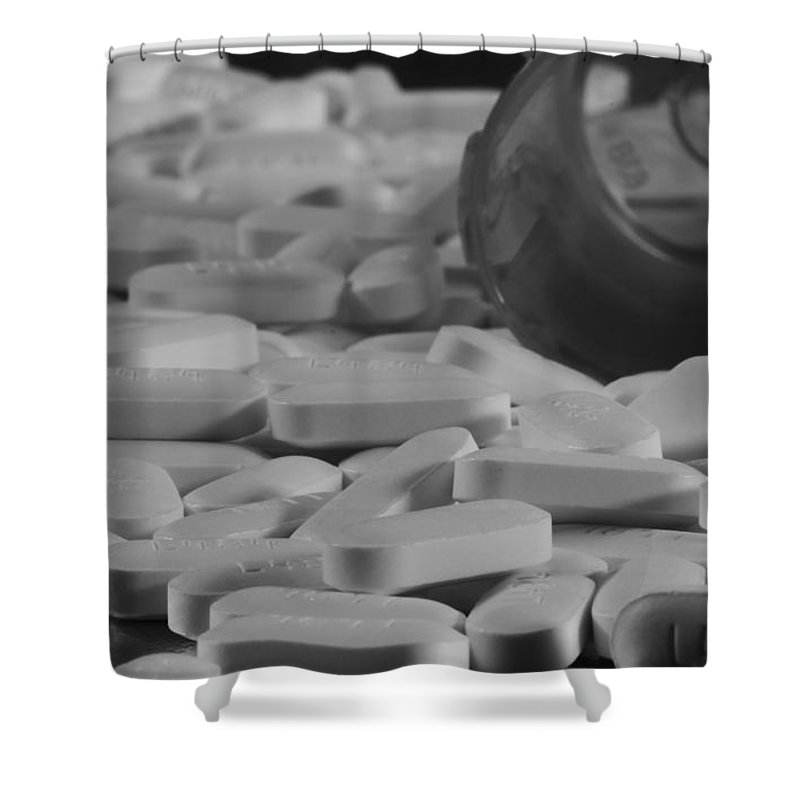 The Red Pill Shower Curtain featuring the photograph Medicine by Dan Sproul