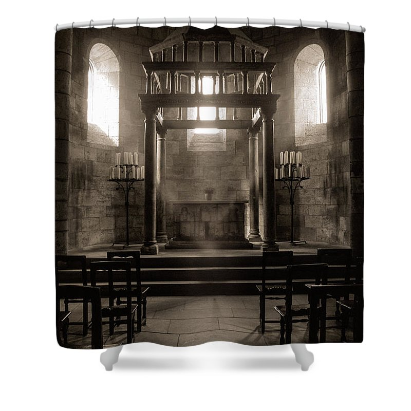 Gothic Shower Curtain Featuring The Photograph Medieval Altar