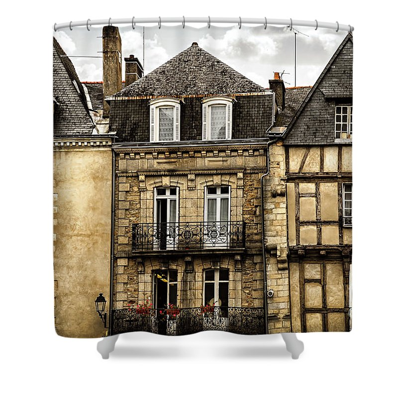 Medieval Houses In Vannes Shower Curtain For Sale By Elena Elisseeva