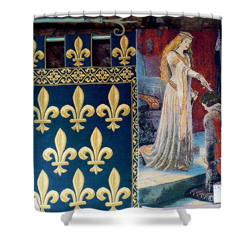 France Shower Curtain Featuring The Photograph Medieval Tapestry By Art