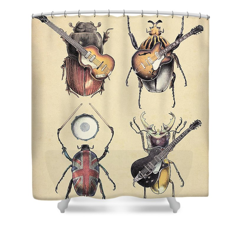 Guitar Shower Curtains