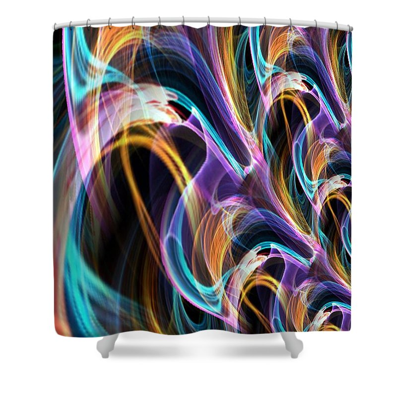 Membrane Shower Curtain featuring the digital art Membrane by Maria Urso