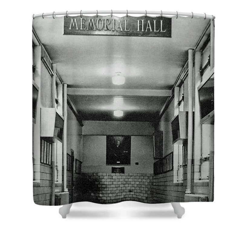 Patterson Shower Curtain featuring the photograph Memorial Hall Pphs by Jost Houk