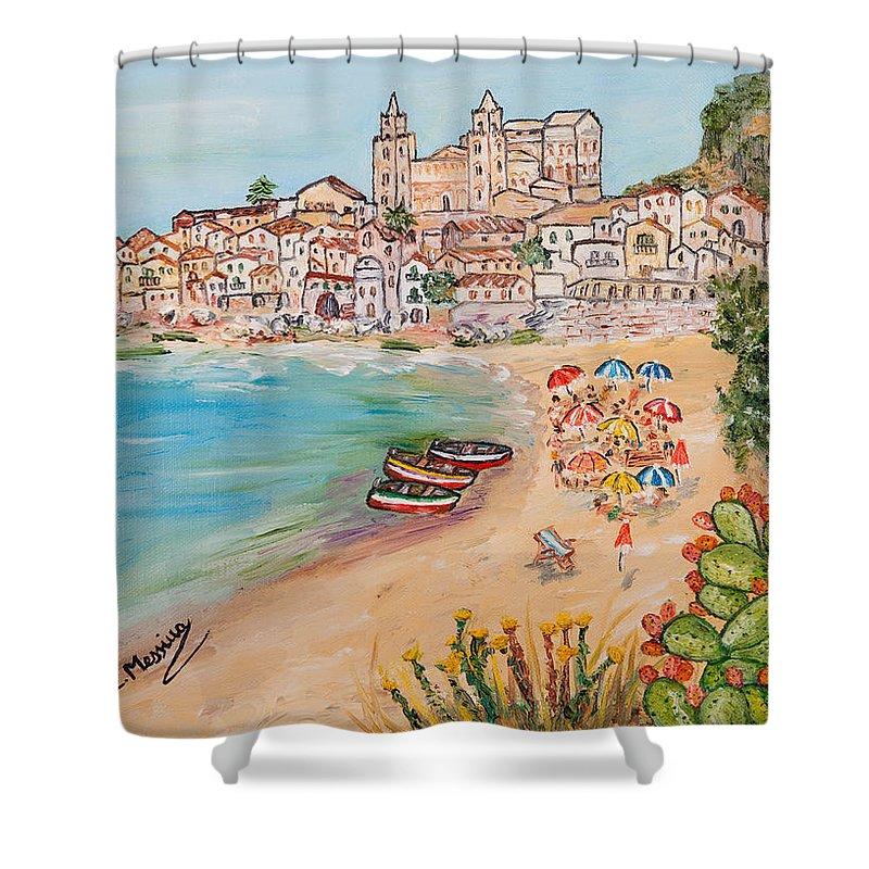 Loredana Messina Shower Curtain featuring the painting Memorie D'estate by Loredana Messina