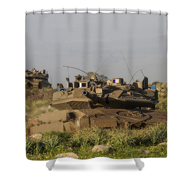 Merkava Iv Main Battle Tank With Trophy Shower Curtain for Sale by ...