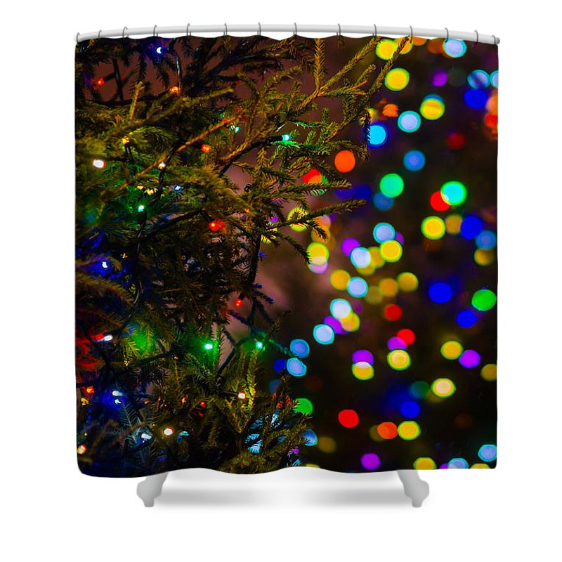 Backdrop Shower Curtain featuring the photograph Merry Christmas 2 by Alexander Senin