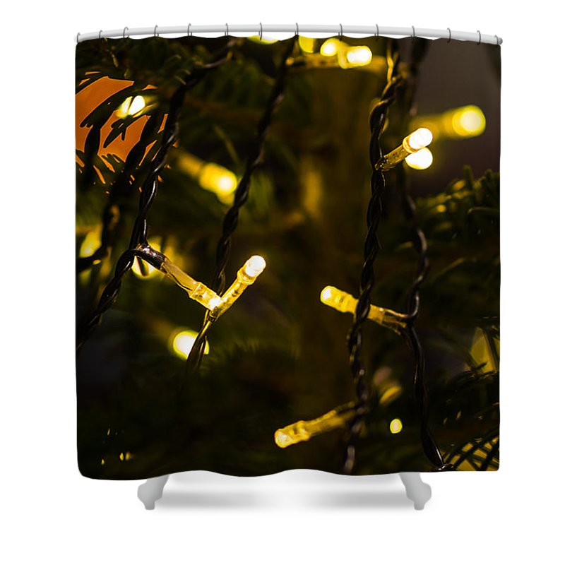 Backdrop Shower Curtain featuring the photograph Merry Christmas 3 by Alexander Senin