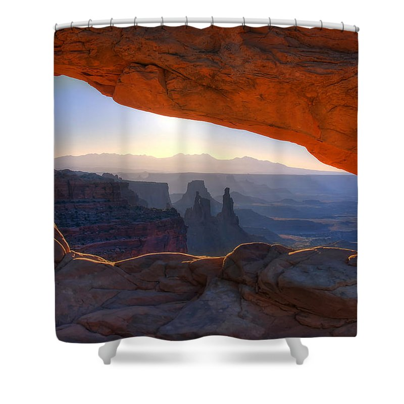 Mesa Arch Canyonlands National Park Shower Curtain featuring the photograph Mesa Arch Canyonlands National Park by Ken Smith