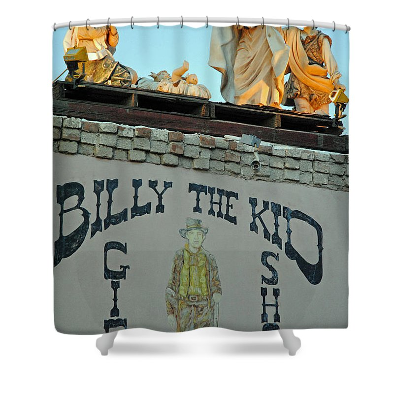Mesilla New Mexico Shower Curtain featuring the photograph Mesilla Nm 6 by Jeff Brunton