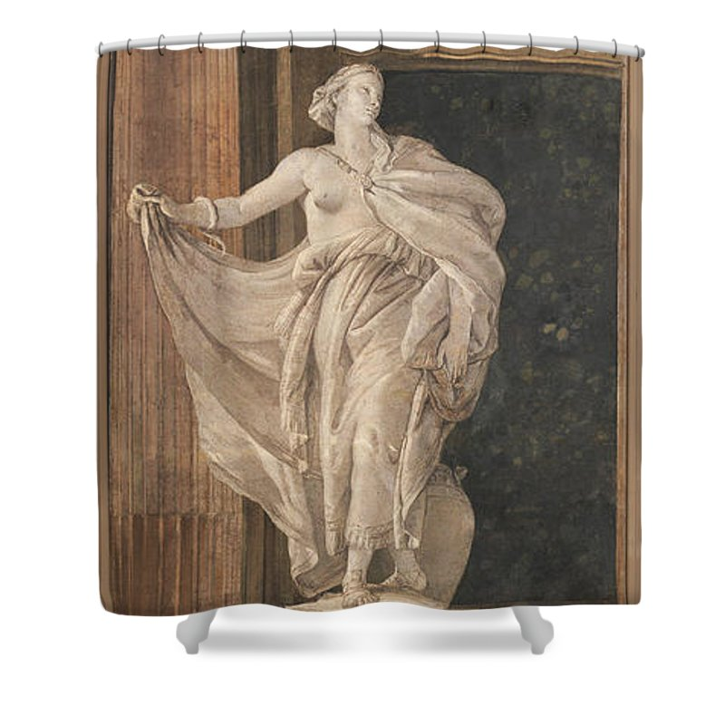 Giovanni Battista Tiepolo Shower Curtain featuring the painting Metaphysics by Giovanni Battista Tiepolo
