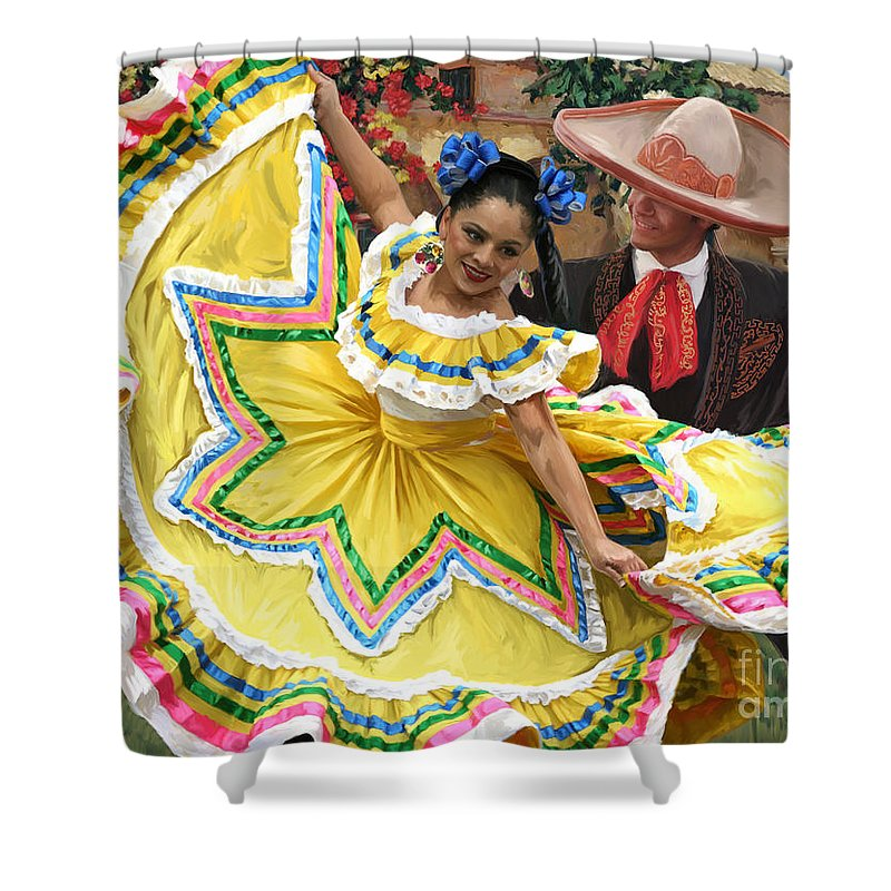 Mexican Hat Dance 2 Shower Curtain For Sale By Tim Gilliland