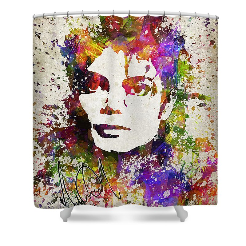 Michael Jackson Shower Curtain featuring the digital art Michael Jackson in Color by Aged Pixel