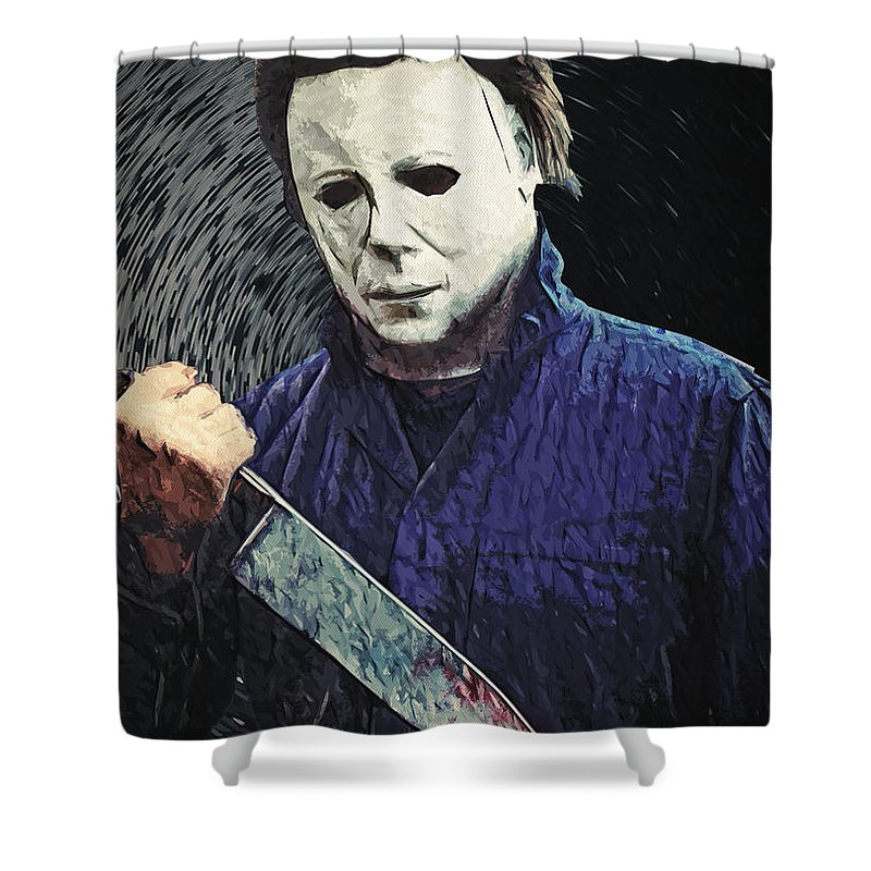 Michael Myers Shower Curtain For Sale By Zapista