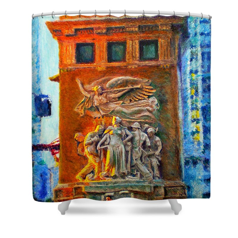 Chicago Shower Curtain featuring the painting Michigan Avenue Bridge by Michael Durst