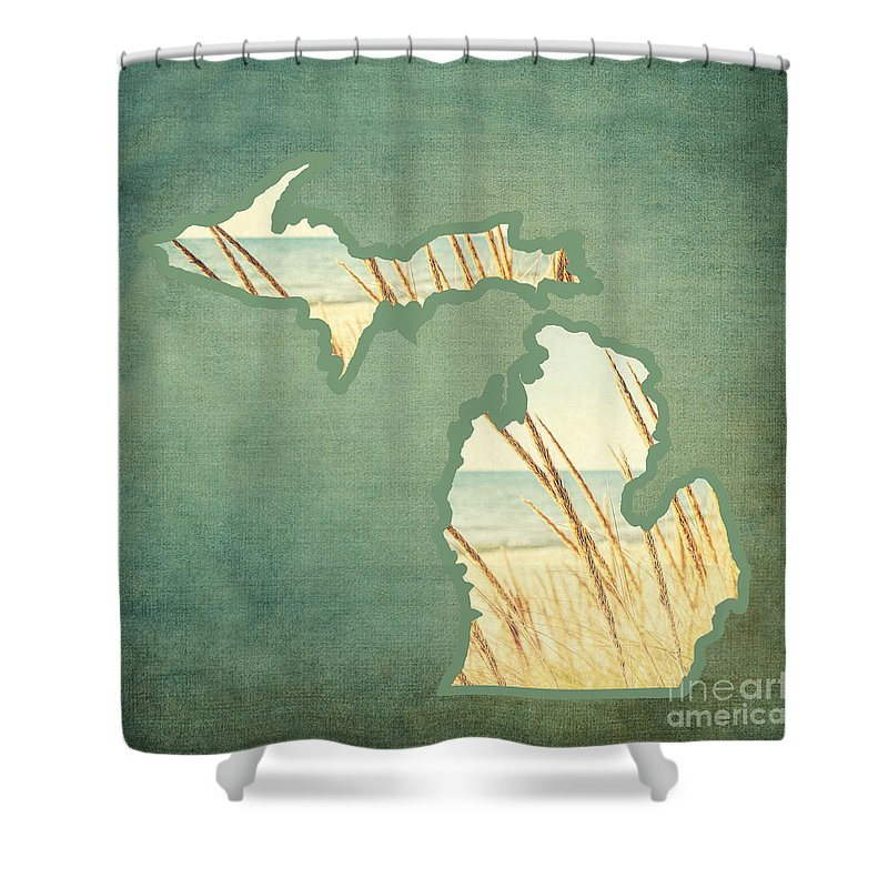 Michigan Shower Curtain Featuring The Photograph Mitten 1 By Emily Kay