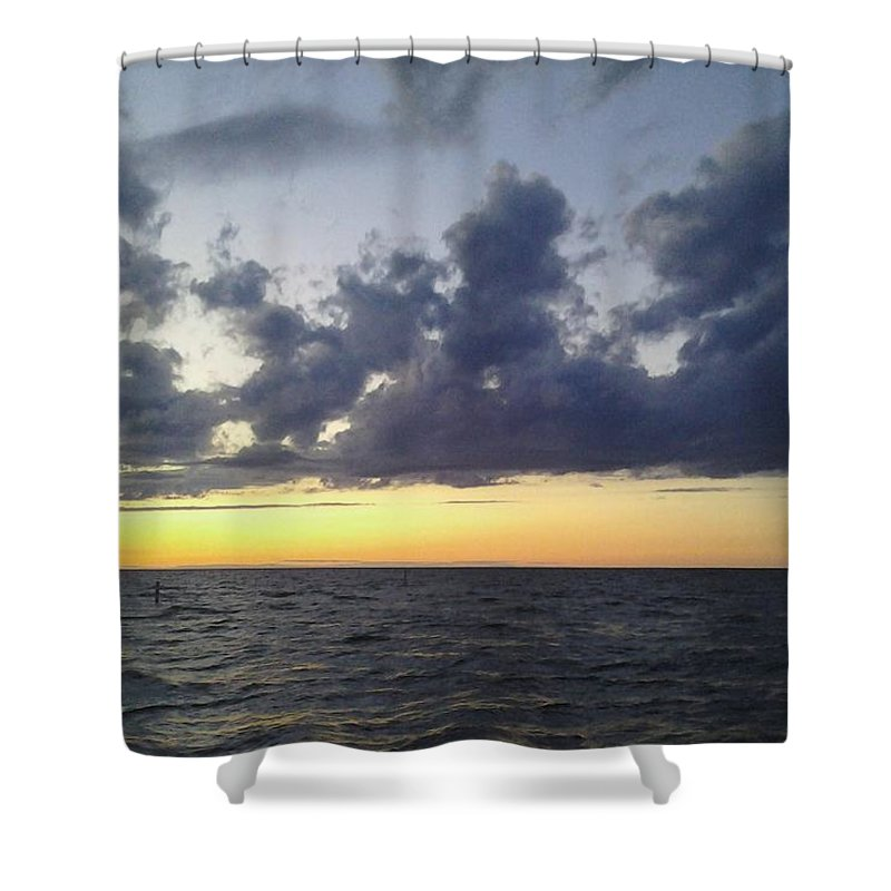 Lake Shower Curtain featuring the photograph Michigan Sunset by Elizah Monai