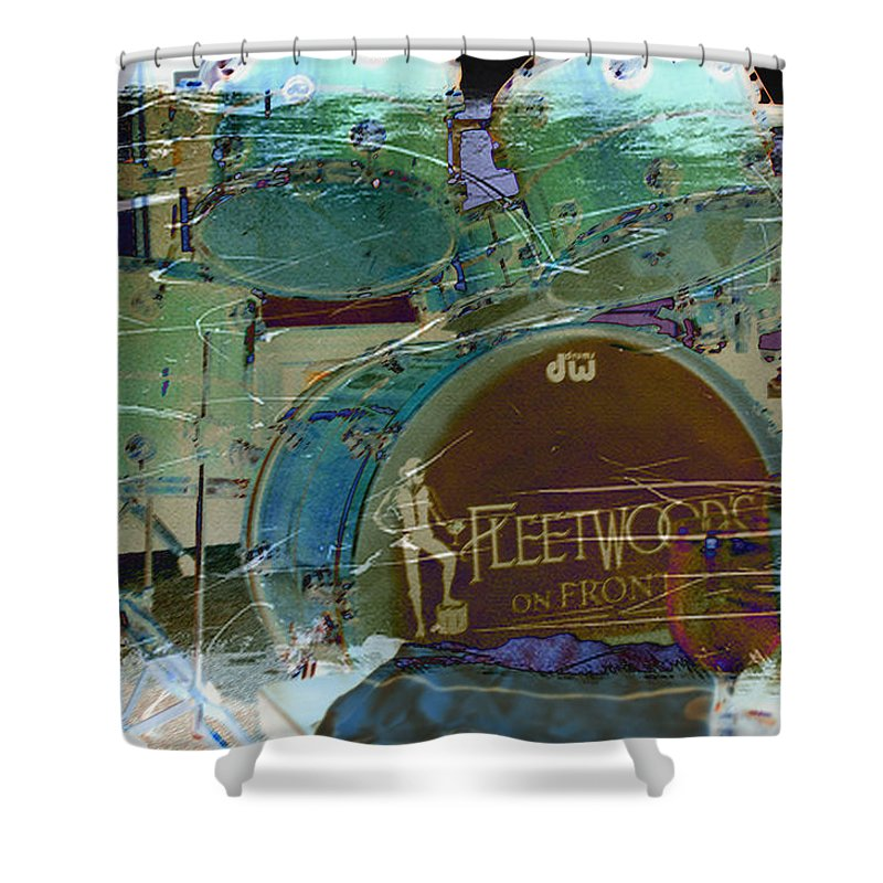 Wright Shower Curtain featuring the photograph Mick's Drums by Paulette B Wright