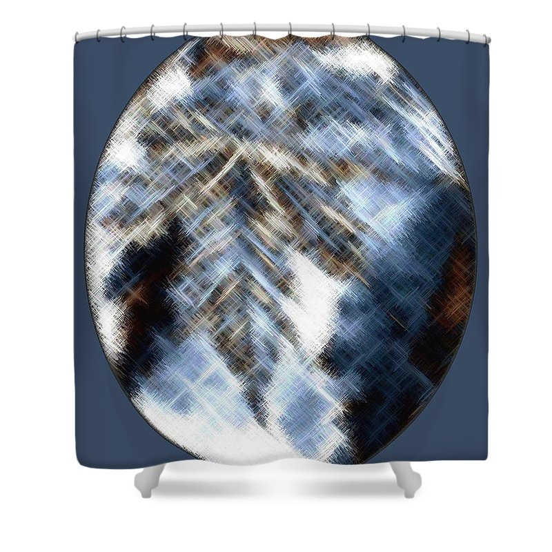 Micro Linear Shower Curtain featuring the digital art Micro Linear 33 by Will Borden