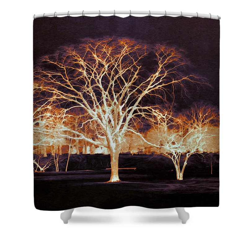 Glowing Shower Curtain featuring the photograph Midnight Glow by Shawna Rowe