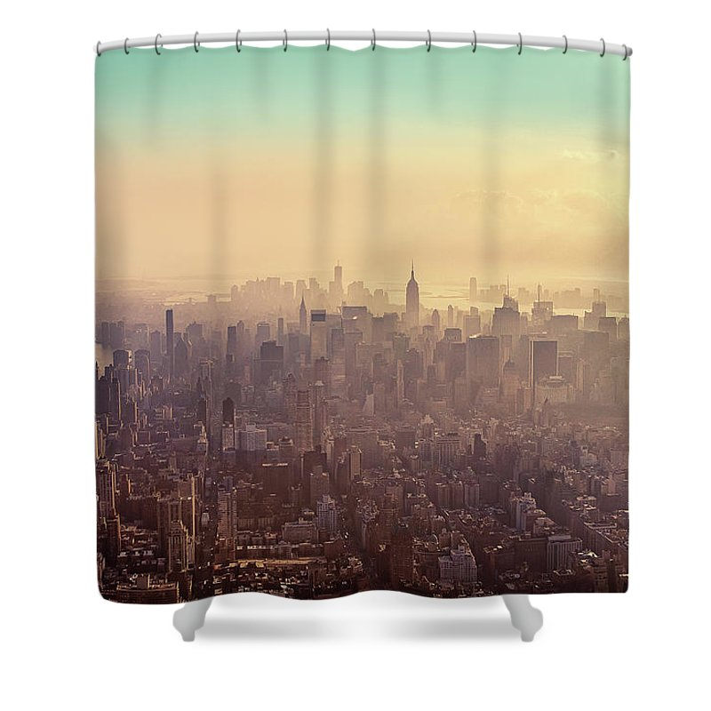 Outdoors Shower Curtain featuring the photograph Midtown Manhattan At Dusk by Matthias Haker Photography