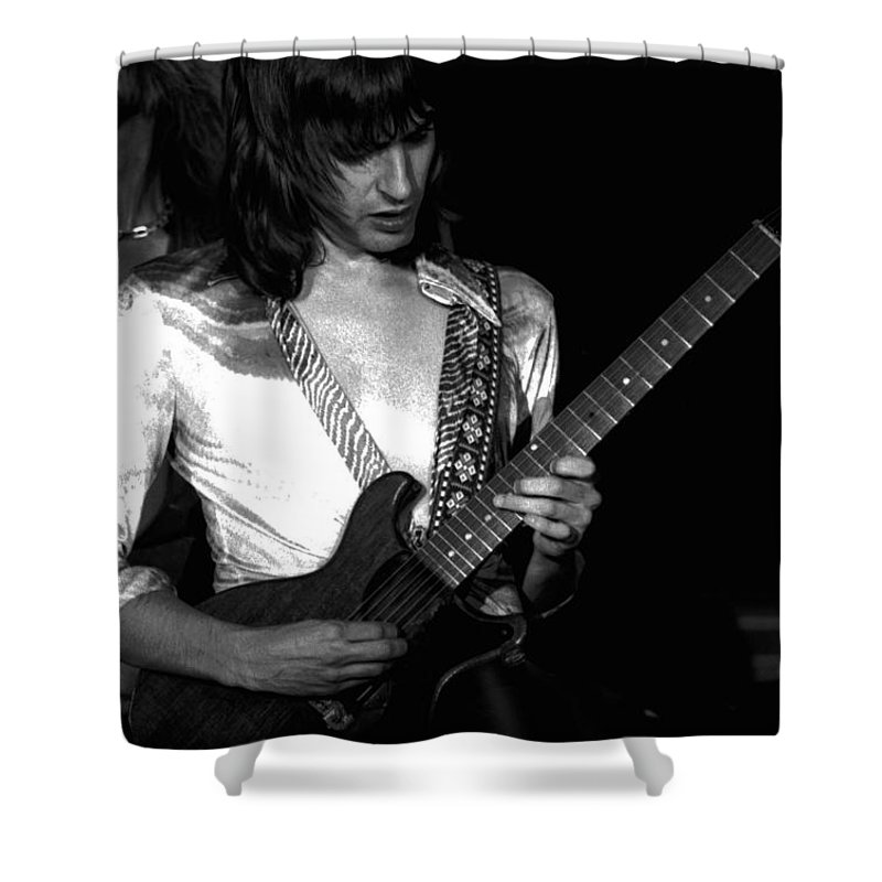 Head East Shower Curtain featuring the photograph Mike Somerville Of Head East 5 by Ben Upham