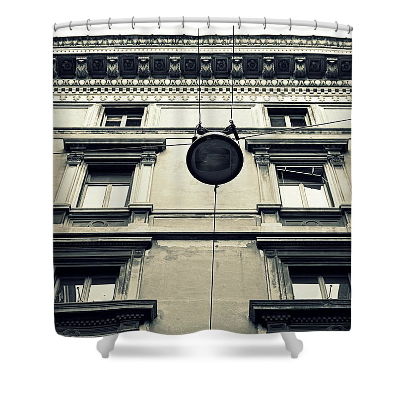 Milan Shower Curtain featuring the photograph Milan Building by Valentino Visentini