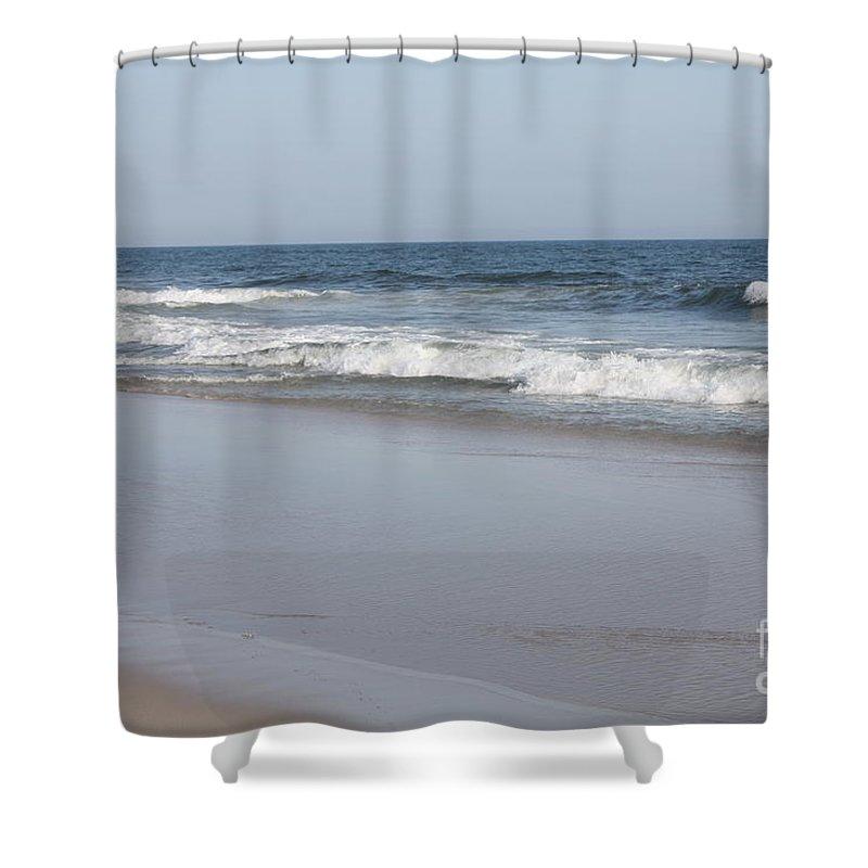 Mild Winter Day At Jones Beach Shower Curtain featuring the photograph Mild Winter Day At Jones Beach by John Telfer