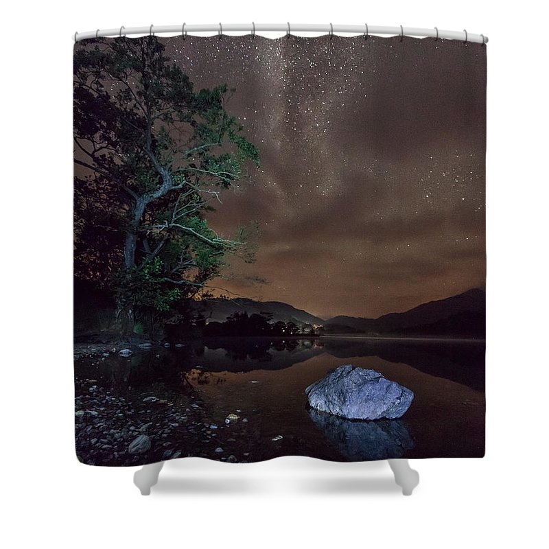 Milky Way Shower Curtain featuring the photograph Milky Way At Gwenant by Beverly Cash