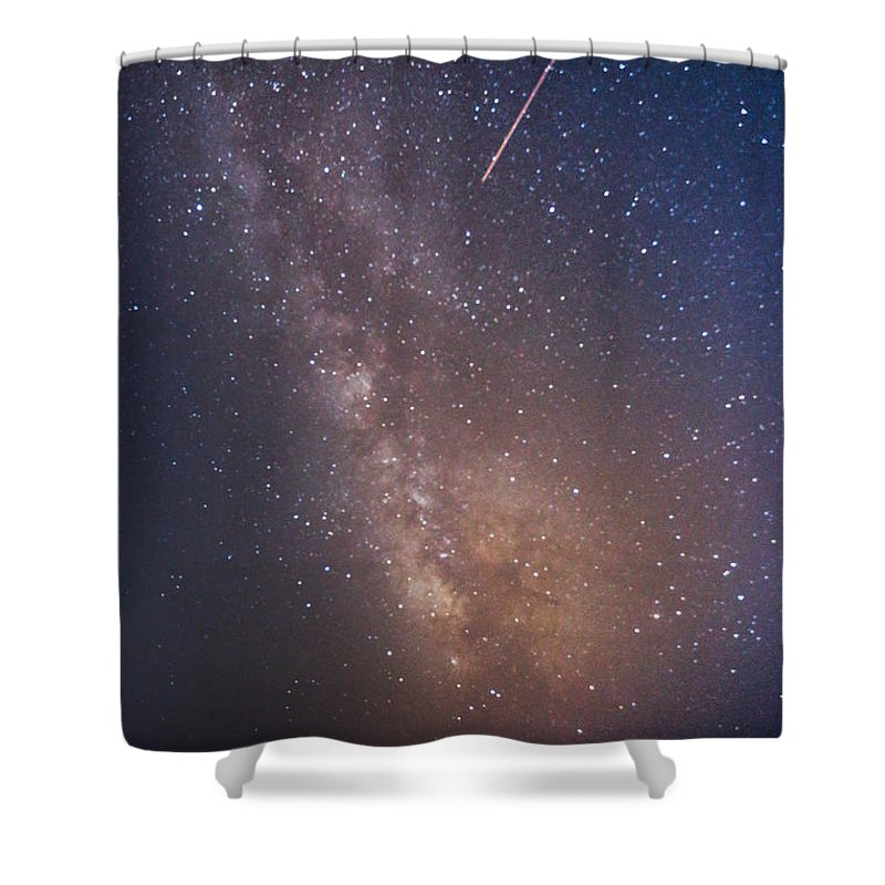 Majestic Shower Curtain featuring the photograph Milky Way by Luca Libralato Photography