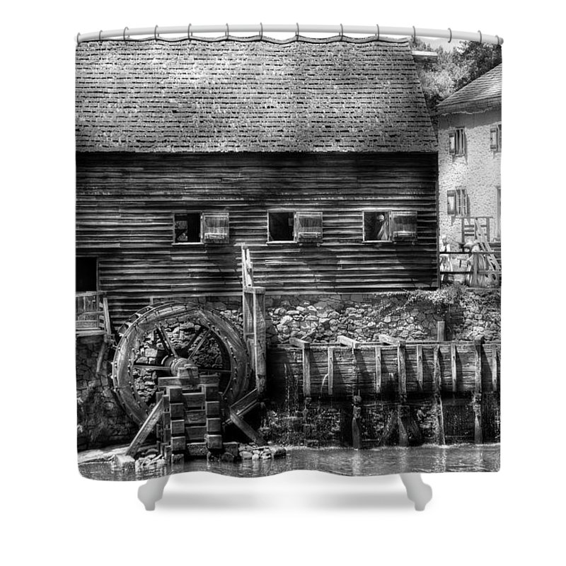 Savad Shower Curtain featuring the photograph Mill - Sleepy Hollow Ny - By The Mill by Mike Savad