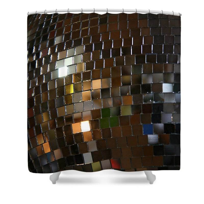 Hippo Hardware Shower Curtain featuring the photograph Mirror Ball by Elizabeth Rose