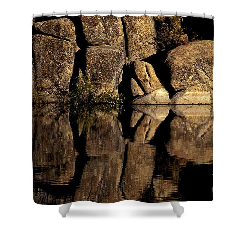 Rocks Shower Curtain featuring the photograph Mirror Rock by Paul W Faust - Impressions of Light