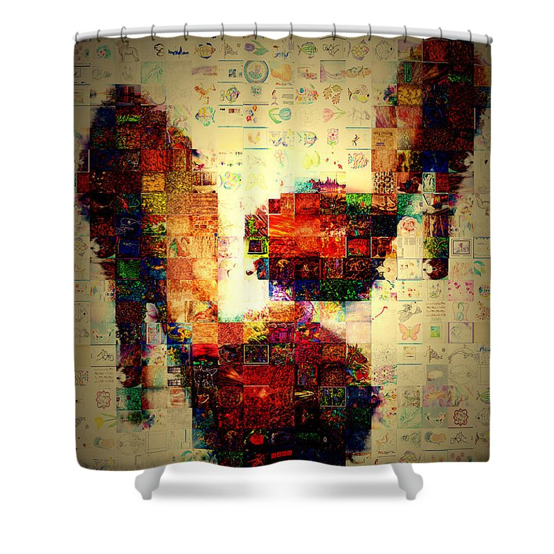Photography Shower Curtain featuring the photograph Misbehavin Shoes by Paula Ayers