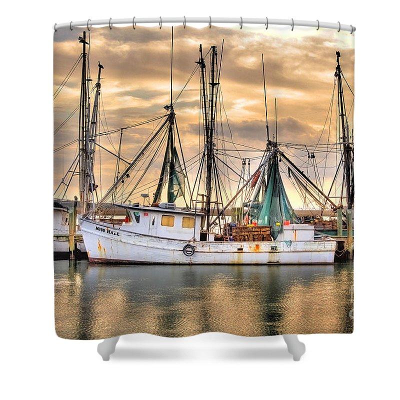 Shrimping Shower Curtain Featuring The Photograph Miss Hale Shrimp Boat By Scott Hansen