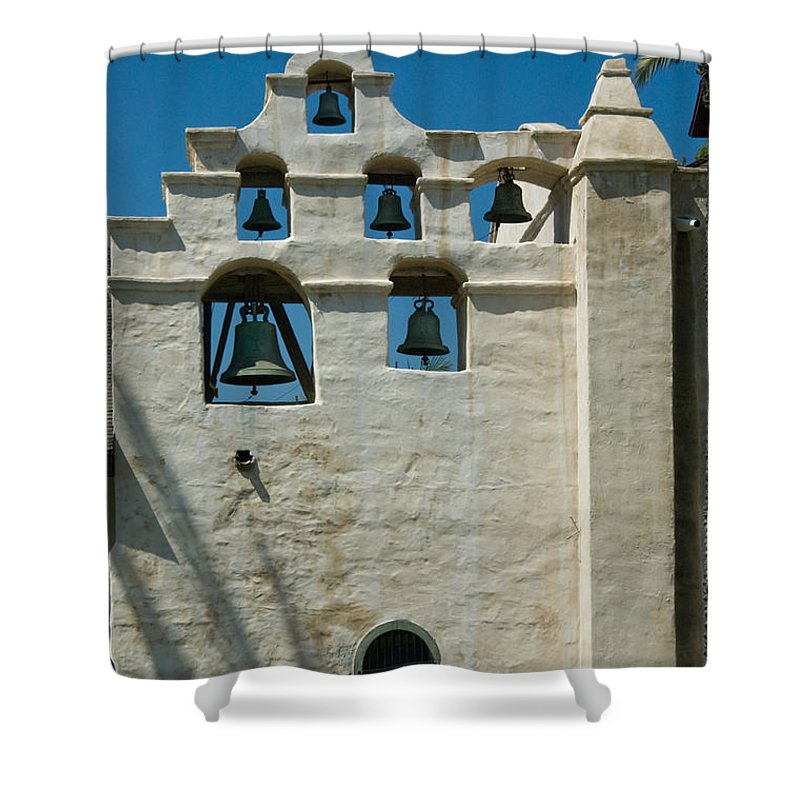 San Gabriel Mission Photographs Shower Curtains