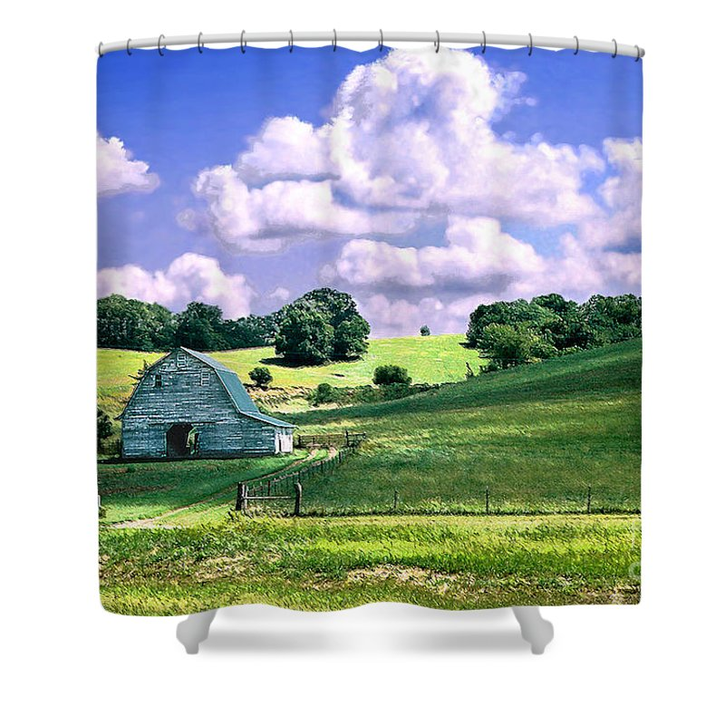 Landscape Shower Curtain featuring the photograph Missouri River Valley by Steve Karol