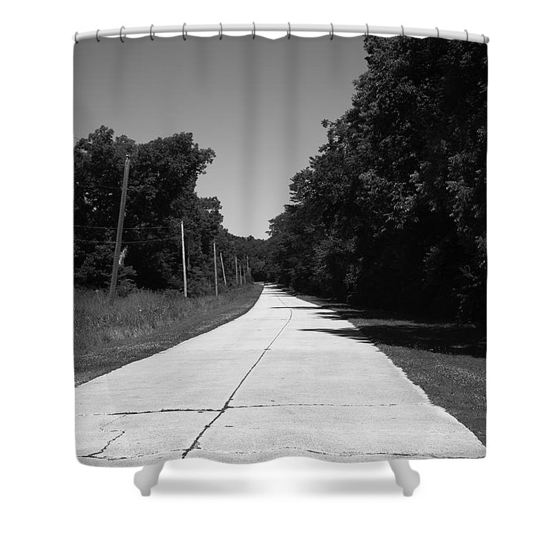 66 Shower Curtain featuring the photograph Missouri Route 66 2012 Bw by Frank Romeo