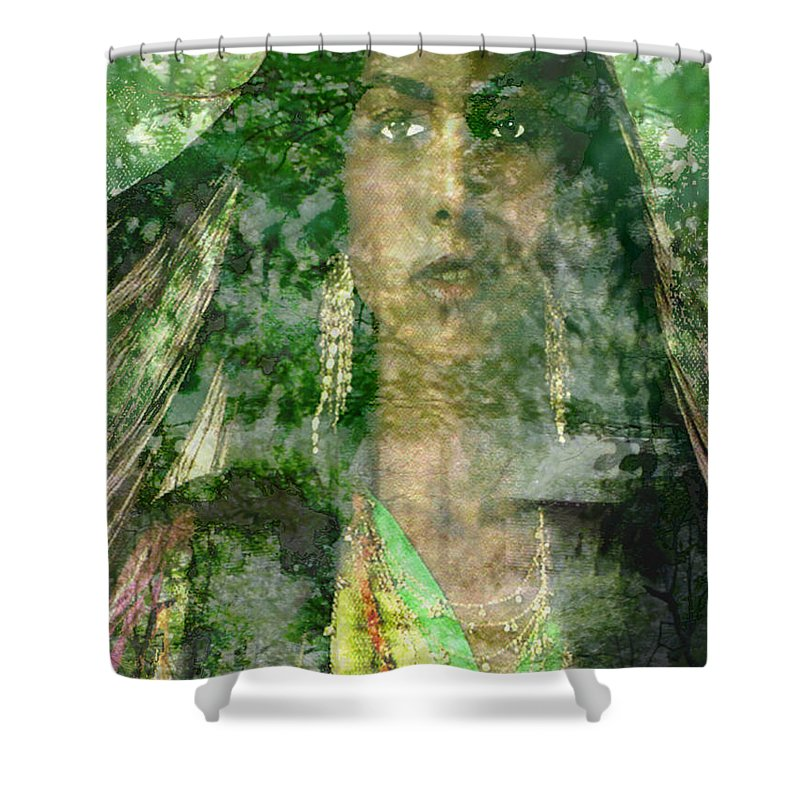 American Indian Shower Curtain featuring the digital art Mistress Of The Wind by Seth Weaver